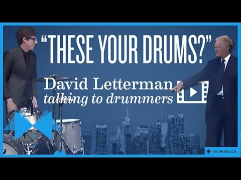 David Letterman | Are Those Your Drums?