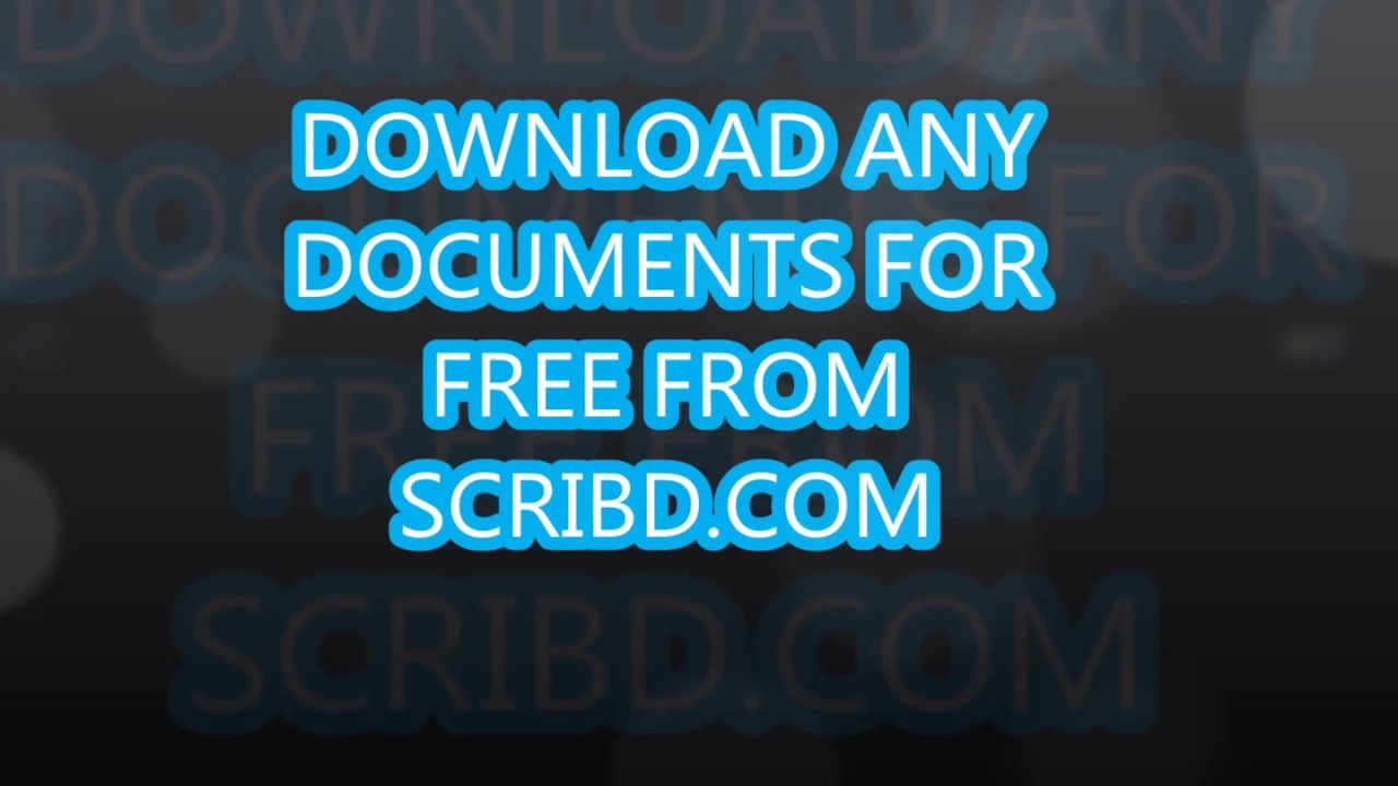 Download Any Documents from Scribd for Free