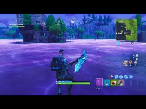 The moment the cube melted into Loot lake Fortnite