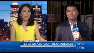 Restaurants defying restrictions lose licenses