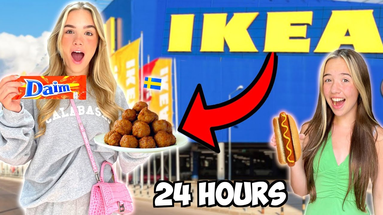 We Ate ONLY IKEA Food for 24 Hours!