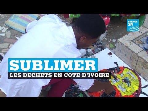 """En Côte d'Ivoire, un artiste """"sublime"""" les déchets électroniques"""