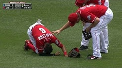 CHC@CIN: Hamilton exits the game with apparent injury