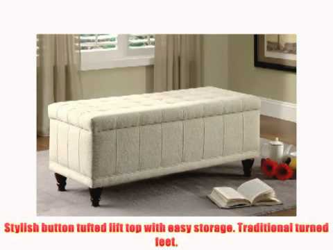 Homelegance 4730nf Lift Top Storage Bench With Tufted