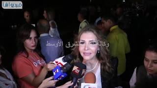 """بالفيديو : الفنانه """"نادية مصطفى """"سعيدة بتكريمى وبتنوع الفرق فى المهرجان"""