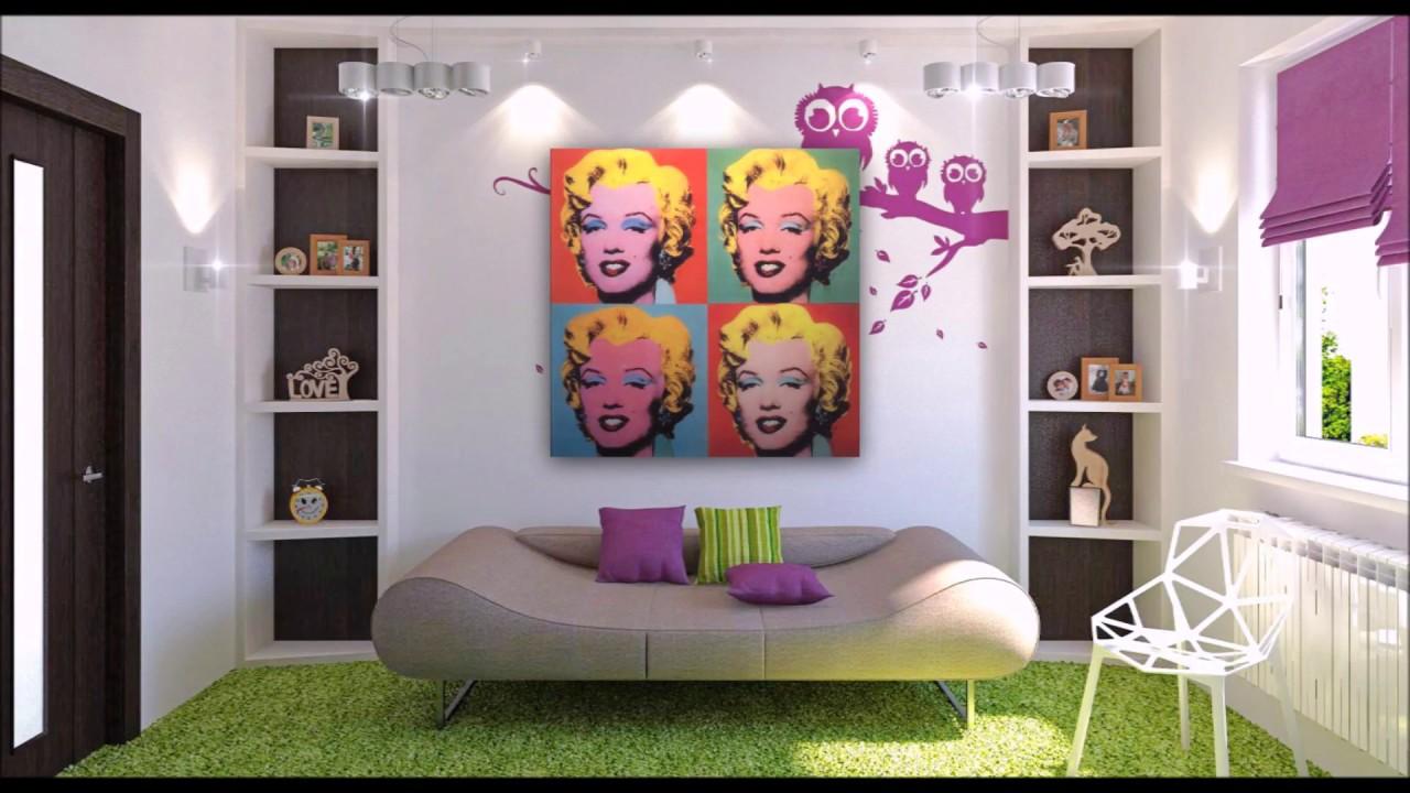 pop art decor interior design youtube