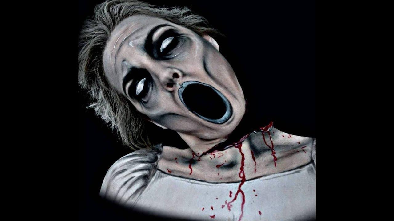 Halloween Nearly Headless Ghost makeup - YouTube