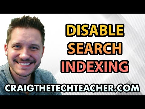 How To Disable Windows 7 Search Indexing Service - Ep. 8