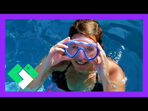 SWIMMING POOL RACES! KIDS VS PARENTS / MOM VS DAD (Day 1908) | Clintus.tv