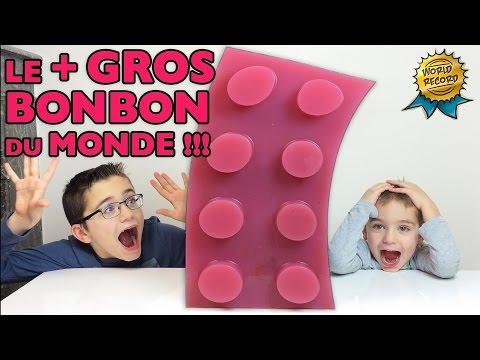 LE PLUS GROS BONBON LEGO DU MONDE !!!  WORLD'S LARGEST GUMMY LEGO !!! Recette bonbon GEANT XXL