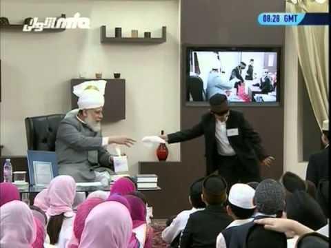 Bustan-e-Waqfe Nau, 16 Jan 2011, Educational class with Hadhrat Mirza Masroor Ahmad(aba)