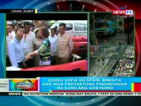 BP: Queen Sofia ng Spain, binisita ang mga proyektong pinondohan sa kanilang gobyerno