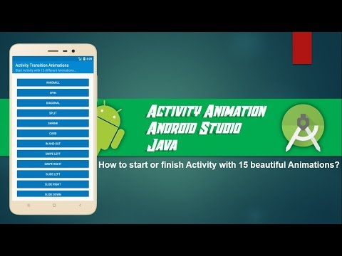Animation between Activities - Android Studio