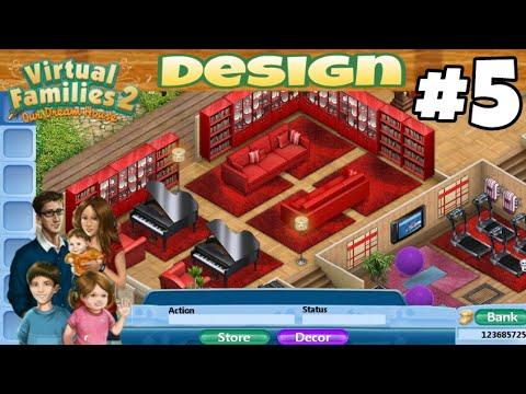 Virtual Families 2 House Design #5 - YouTube