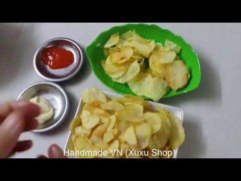 Đồ ăn vặt - Hướng dẫn cách làm Bim bim khoai tây ngon tại nhà - Guidance As Potato Snacks