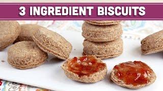 3-Ingredient Biscuits, Vegan & Healthy