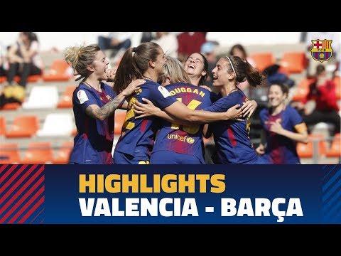 [HIGHLIGHTS] FUTBOL FEM (Liga): Valencia - FC Barcelona (1-4)