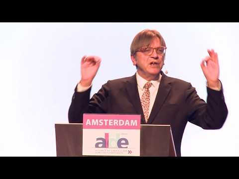 Guy Verhofstadt speaks at ALDE Party Congress in Amsterdam