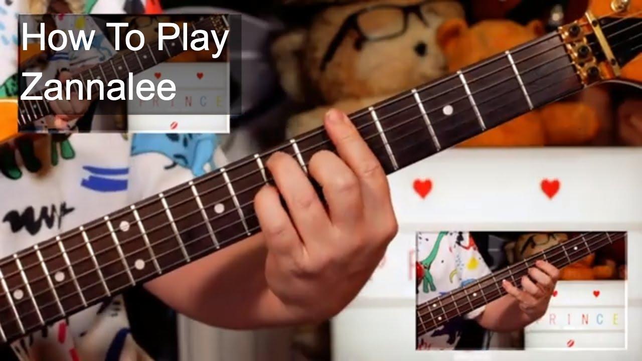 'Zannalee' Prince Guitar & Bass Lesson