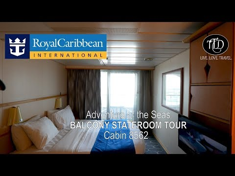 Adventure of the Seas Balcony Stateroom 8562 Cabin Tour