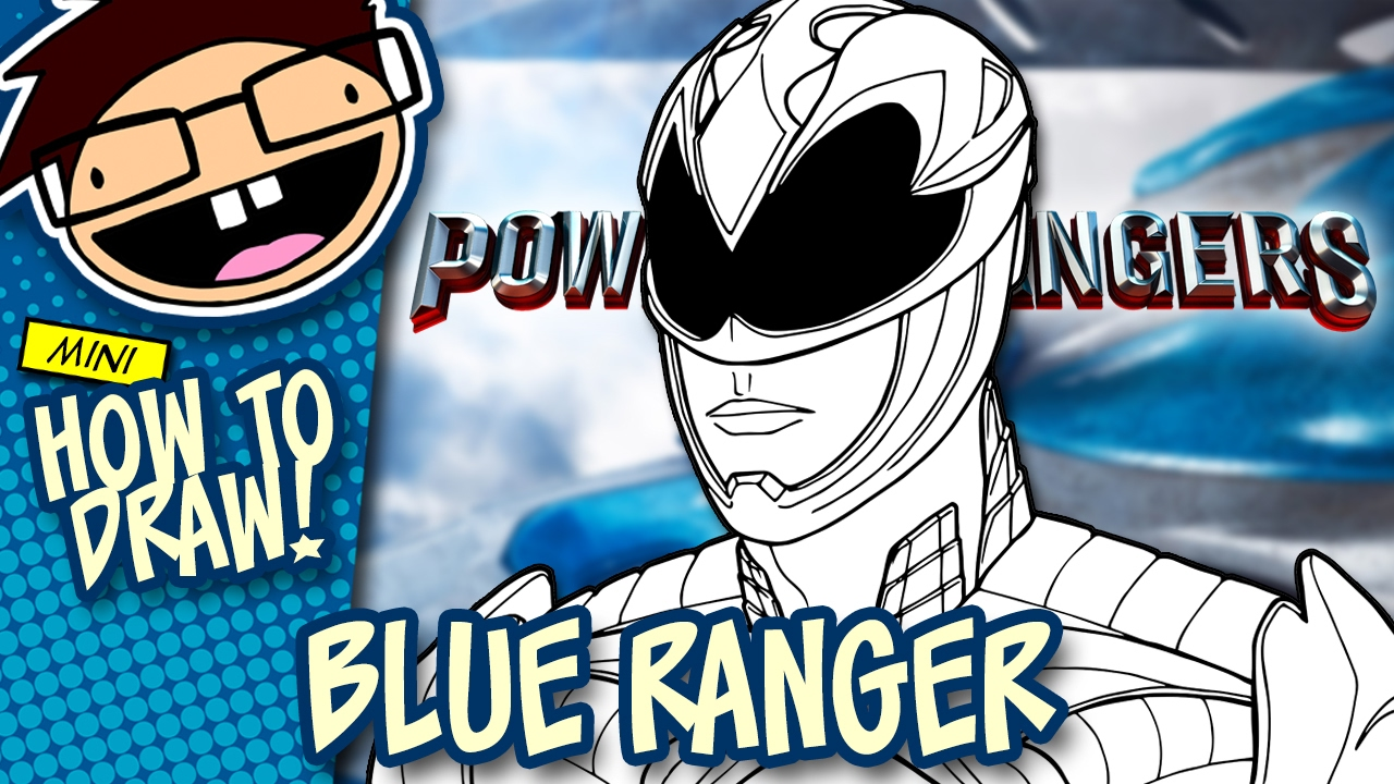 How To Draw Blue Ranger Power Rangers 2017 Movie