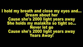 Green Day - 2000 Light Years Away (Lyrics)