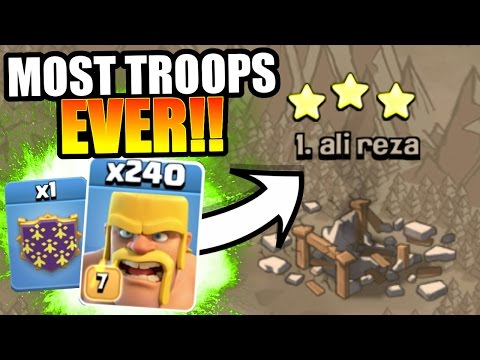 Thumbnail: DONT TRY THIS AT HOME!! 275 TROOPS vs TOP PLAYER IN WAR!! - Clash Of Clans