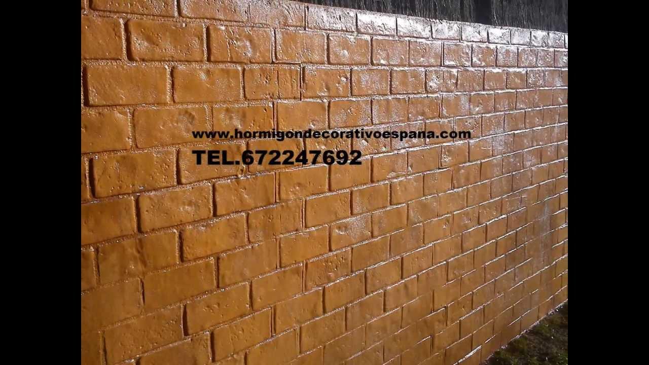 Hormigon impreso valls 672598634 tarragona youtube for Pavimento de hormigon tarragona