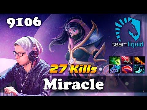 Miracle Lanaya [27 kills] | 9106 MMR Dota 2