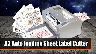 A3 Auto-feeding Sheet Label Cutter For Mass Label Production