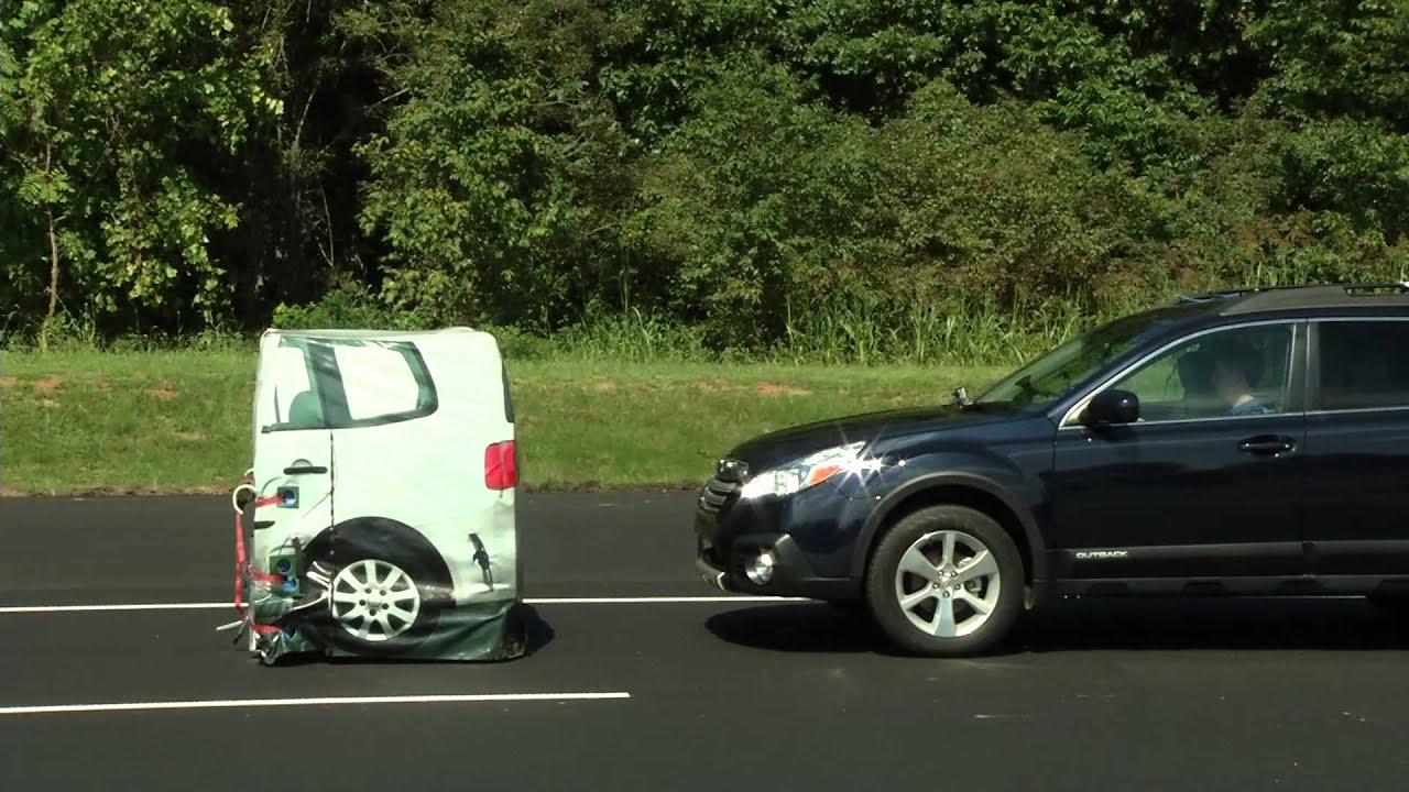 Car Brake Test : Front car crash test auto brake video volvo s mazda