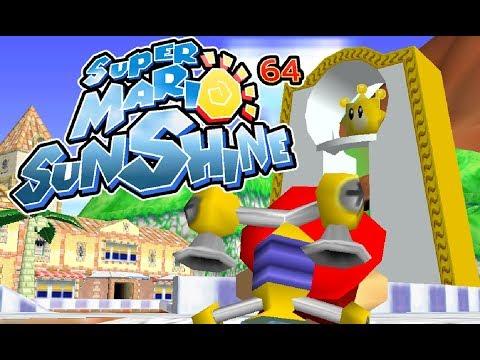 Super Mario Sunshine 64 - Delfino Plaza In Mario 64 Preview