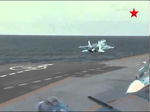 "Heavy aircraft-carrying cruiser ""Admiral Kuznetsov"" Carrier-based fighter Su-33"