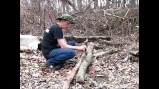 Cutting Firewood For The Off Grid Camper The Hard Way - By Hand