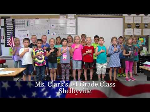 "Mrs. Freeman 1st Grade WANDtv ""Daily Pledge of Allegiance"""