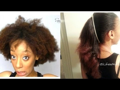 how to detangle straighten naturally curly hair youtube