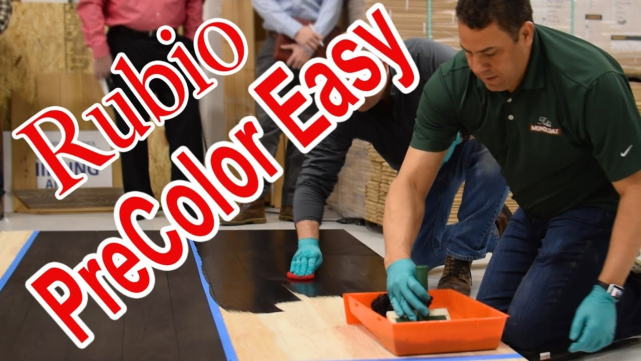 PreColor Easy Rubio Monocoat | How To Apply This Stain Over Hickory Wood  Floor