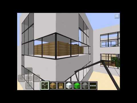 Let 39 s play minecraft pocket edition beach modern house for Modern house minecraft pe