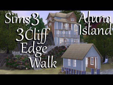 Sims 3:  Aluna Island~3 Cliff Edge Walk~Speed Build