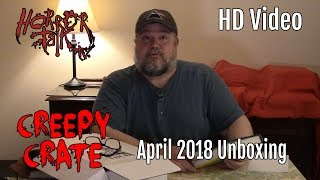 Creepy Crate #7 by The Lineup Unboxing - April/May 2018 - @HorrorTalk