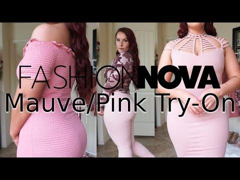 Fashion Nova Mauve Pink Try-On Haul | Ruby Red
