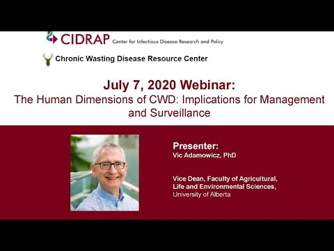 The Human Dimensions Of CWD: Implications For Management And Surveillance