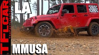 Driving to the top of Mount Driskill in Louisiana on MMUSA