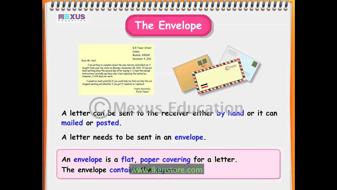 Learn English How To Write A Formal Letter Youtube