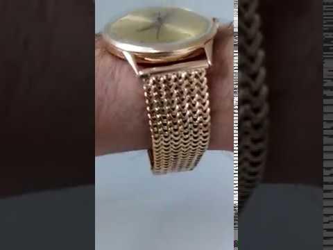 a5e6316b592 Relógio Omega ouro 18k 750 - YouTube