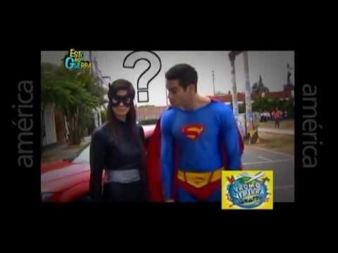 Esto es Guerra: Superman y Superchica visitan colegio Santo Domingo  07052013