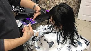 Katlı saç kesimi yapım aşaması