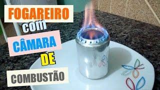 FOGAREIRO DE LATINHA - COM CÂMARA DE COMBUSTÃO Diy (stove powered by alcohol made with cans)