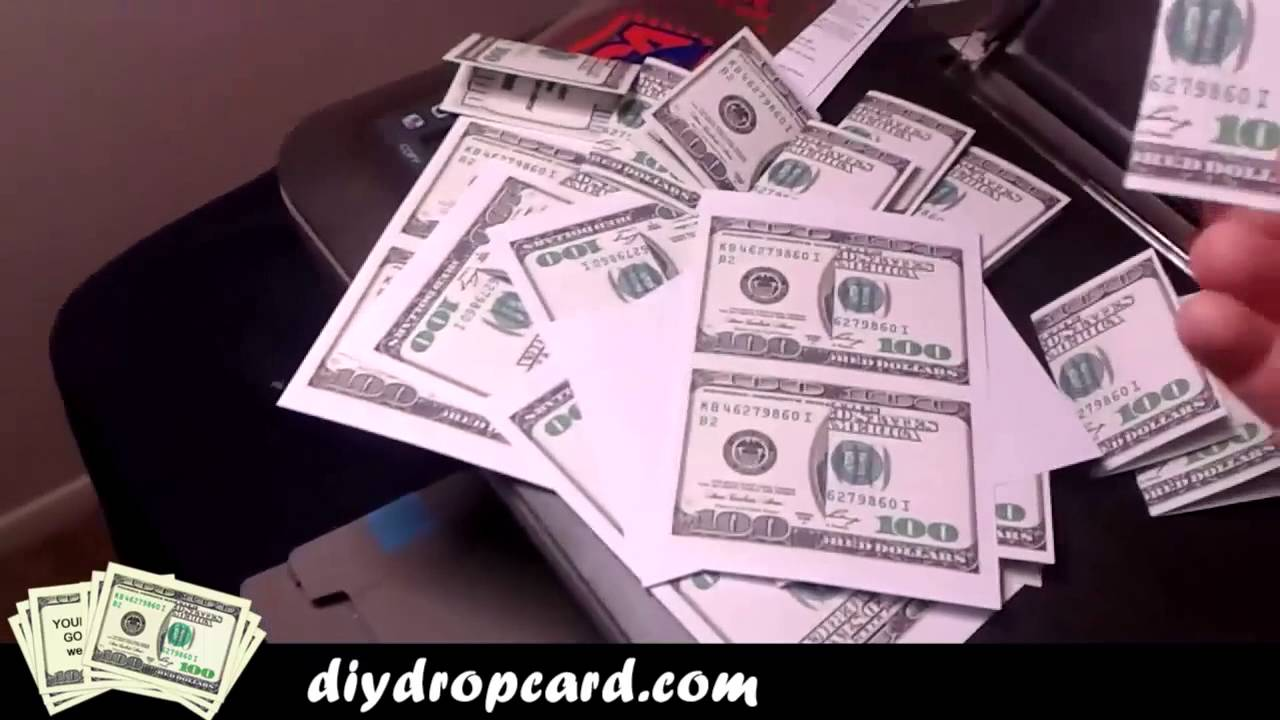 do it yourself 100 bill drop card template 5 youtube