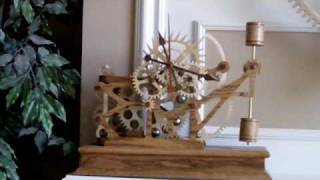 Wood Gear Clock 5 by Steve K